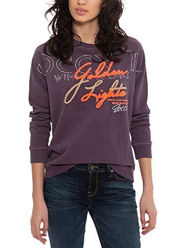 SOCCX Damen Sweatshirt mit Lettering