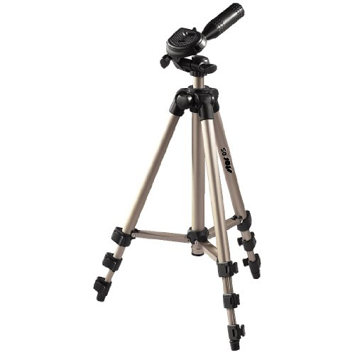 Hama Star 05 - Trípode para cámaras Foto/Video, 106.5 cm, Aluminio, Cabeza 3D, Color Dorado