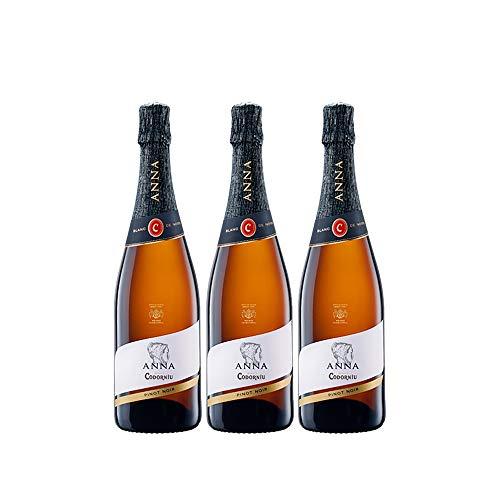 Codorníu | Cava Brut Anna de Codorníu Blanc de Noirs | Caja de 3 botellas de 75 cl