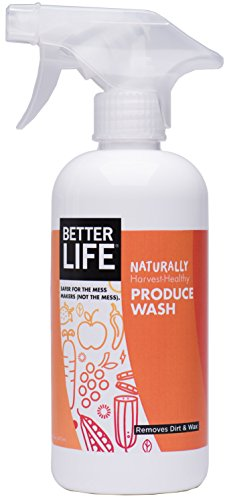 Better Life Natural Fruit and Vegetable Wash, 16...