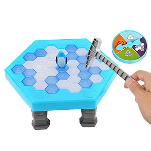 Dunmo Bloque de hielo Rompiendo Guardar Pingüino Juego Desmontable Knocking Puzzle Mesa Juguete Educativo Escritorio Grupo Juego para Niños Fiesta