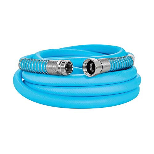 Camco EvoFlex 25-Foot Hose | 5/8-inch Diameter | Designed for Recreational Use | Drinking Water Safe | Super Flexible (22594)