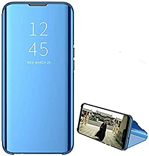 For Oppo Realme 3 pro Clear View Standing mirror With Out Sensor Cover - Blue