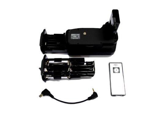 WELLSKY D3100 D3200 D3300 D3400 用 バッテリーグリップ ニコン EN-EL14 EN-EL14a シャッター リモコン付