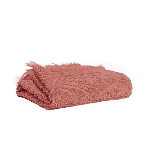 Vivaraise - Drap de Douche Zoé – 70x140 cm – Serviette de Plage, Spa, Piscine, hammam – Tissu éponge 100% Coton Absorbant – Motif Jacquard