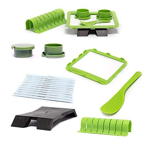 Kit de fabricación de Sushi, Herramienta de plástico para Hacer Sushi, Bricolaje, Rollos de Sushi, Cocina casera, Herramienta de Sushi, para Principiantes, Molde para Sushi, Verde