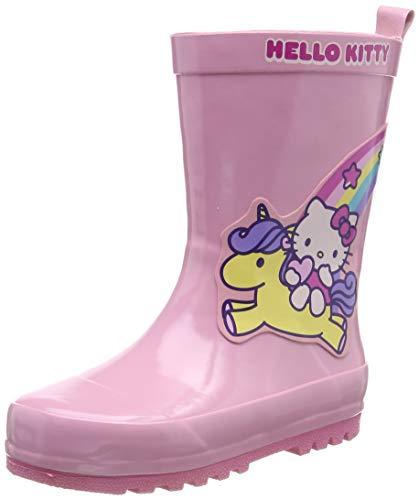 HELLO KITTY Girls Kids Boots Rainboots, Botte de pluie Garçon, Rose (Pink PNK), 22 EU