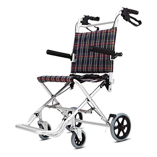 A-new Aluminium-Rollstuhl, Leichter und Faltbarer Rahmen, Rollstuhl, tragbarer Transportstuhl, Sitzbreite 46 cm