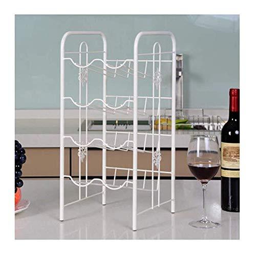 HJXSXHZ366 Estantería de Vino Moderna Sala de Estar Minimalista botellero Bandeja Creativa del Estante del Vino Europeo de joyería de Metales Estante de Vino pequeño