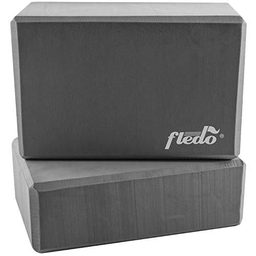 Fledo Yoga Blocks (Set of 2) 9'x6'x4' - EVA Foam Brick,...