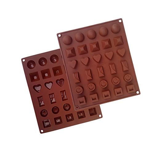 DishyKooker 1/2 stuks silicone vorm voor chocoladegelei-snoepjes, het doe-het-zelf bakgereedschap maken