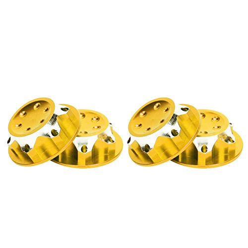 AMONIDA Tuerca de llanta de aleación de Aluminio, Rendimiento Estable Reemplazo de Tuerca de llanta de aleación de Aluminio a Prueba de Polvo, Accesorio de Coche RC(Golden)