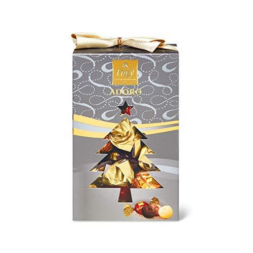 Frey Adoro Pralinen mit zarter Füllung 250g - Assortierte gefüllte Schokoladenkugeln - Schweizer Premium Schokolade - UTZ Zertifiziert - in Geschenk Box zu Weihnachten, Advent