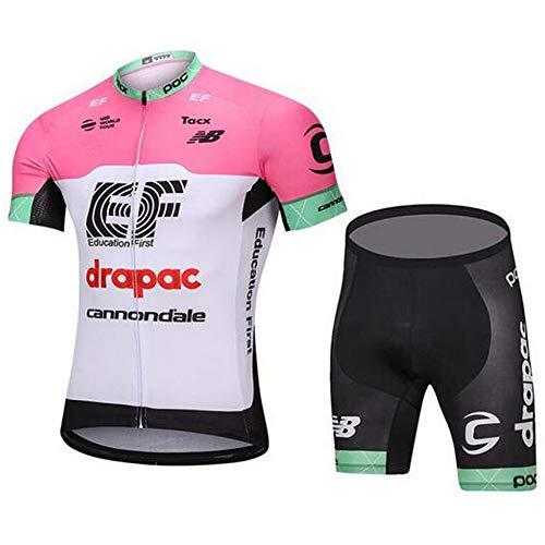 MOLCYZ Maillot Ciclismo para Hombre, Maillot Ciclismo Conjunto Jersey + Culotte Corto...