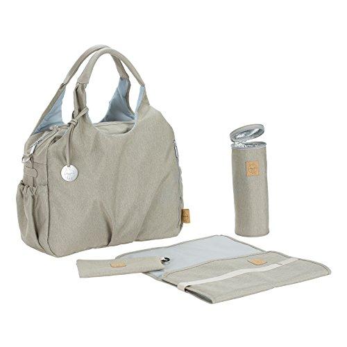 LÄSSIG Baby Wickeltasche Stylische Tasche nachhaltig Babytasche inkl. Wickelzubehör/Glam Global Bag Ecoya