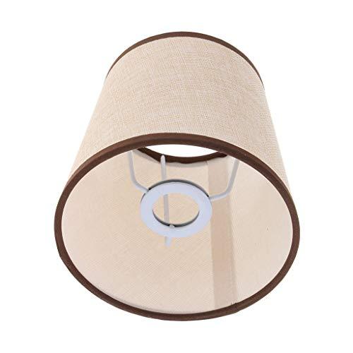 Homyl 2 Pcs Lampe Suspension Abat-jour Plafonnier Applique Murale Douille Lustre Vintage Retro Abat-jour de Lampe de Table en Tissu - Type 1