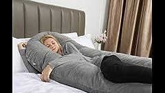 Amazon.com: Queen Rose Almohada de cuerpo para embarazadas ...
