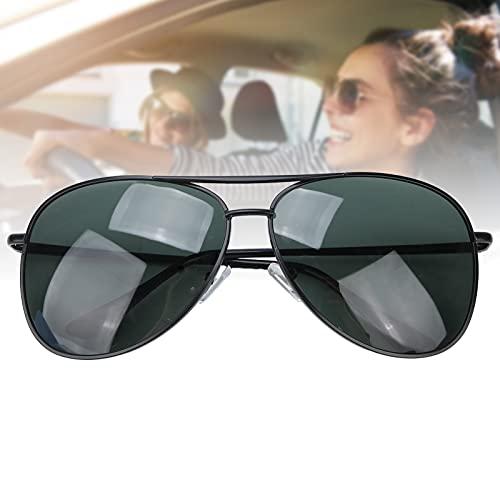 Gafas de sol polarizadas Gafas de sol a prueba de rayos UV Estilo vintage Montura negra Lente verde oscuro Protección deportiva Gafas para hombres Mujeres Conducción Ciclismo Golf Gafas de sol Gafas d