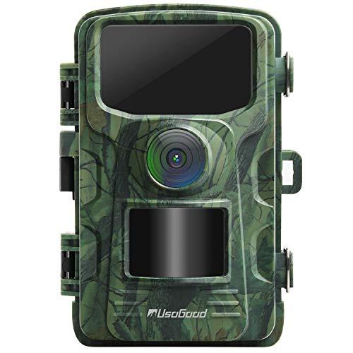 usogood Wildkamera 14MP 1080P mit Bewegungsmelder Nachtsicht No Glow IP66 Spray wasserdicht 2.4