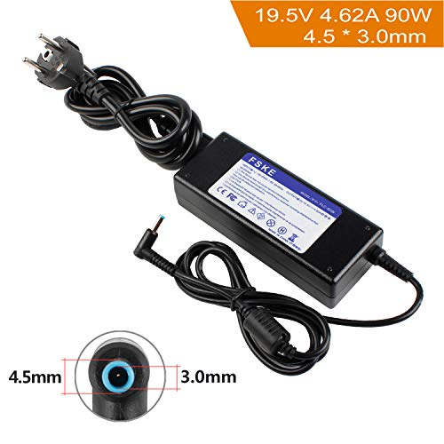 FSKE Notebook-Zubehör Notebook-Netzteil Ladegeräte AC Netzteile Batterie akku Ladegerät Adapter Für HP 19.5V 4.62A 90W Verbinder:4.5 * 3.0mm