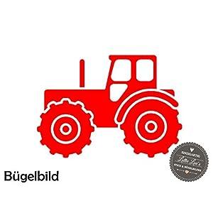 Bügelbild Aufbügler Traktor Bauernhof Farm in Flex, Glitzer, Flock, Effekt in Wunschgröße