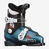 Salomon T2 RT Ski Boots Kid's Sz 11K (18) Moroccan Blue/Black/White