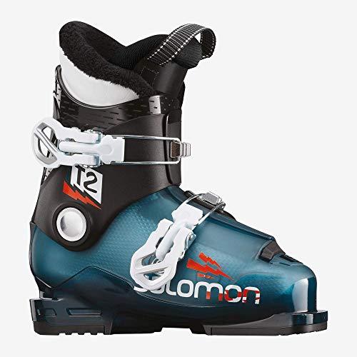 Salomon T2 RT Ski Boots Kid's Sz 13K (20) Moroccan Blue/Black/White