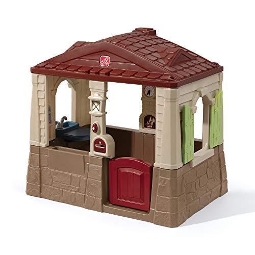 Step2 Neat and Tidy Spielhaus  Kunststoff Spielhaus für Kinder mit Küche, Klingel und Zubehör