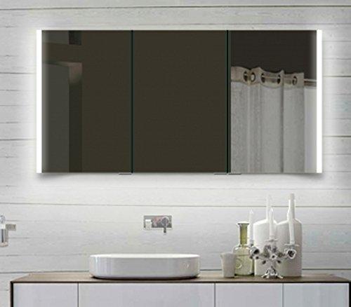rmi-ByPack Armadietto a Specchio Top Design con Struttura in Alluminio Illuminazione a LED