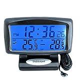 車用 時計 コンパス 車内外 温度計 家庭用 内温度計 外温度計