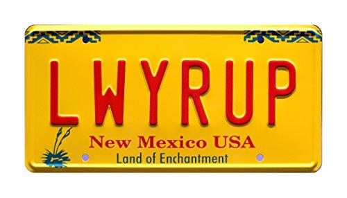 Breaking Bad   Saul Goodman's 1997 Cadillac DeVille   LWYRUP   Metal Stamped Vanity Prop License Plate