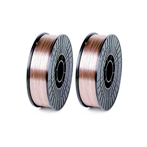 "WeldingCity 2-pk Mild Steel MIG Welding Wire ER70S-6 11-Lb Spool 0.030"" (0.8mm) 8""-roll | Pack of 2 Rolls"