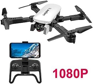 Adsvtech WiFi FPV RC Drone con cámara Doble 1080 HD para Principiantes Quadcopter Plegable Belleza automática fotografía de Gestos Vuelo de trayectoria Blanco