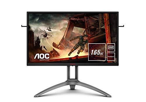 AOC AGON AG273QX 68 cm (27 Zoll) Monitor (HDMI, DisplayPort, USB Hub, Free-Sync 2, 1ms Reaktionszeit, HDR 400, 2560 x 1440, 165 Hz) schwarz