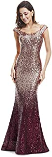 Ever-Pretty Women Sparkling Gradual Champagne Gold Sequin...
