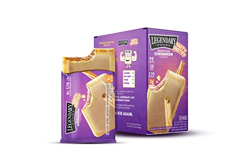 Legendary Foods Tasty Pastry Toaster Pastries | Low Carb/Keto Breakfast | No Added Sugar | Balanced Keto Snacks to Go | Gluten Free | Just Pop in the Microwave! (Brown Sugar Cinnamon, 1.7oz 10 Pack)