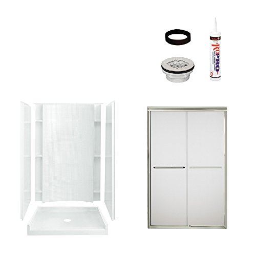STERLING 7226-5475NF Shower Package White with Nickel