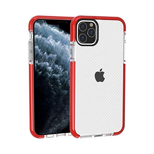 Fulvit para Funda Protectora de TPU Anti-colisión de Textura de Baloncesto para iPhone 11 Pro Casos antiedad (Color : Red)
