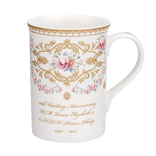Royal Worcester–Reina 70W. ANN. Taza, Multi Color