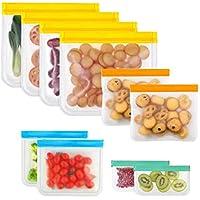 10-Pack Sayefetar Reusable Waterroof Ziplock Lunch Storage Bags