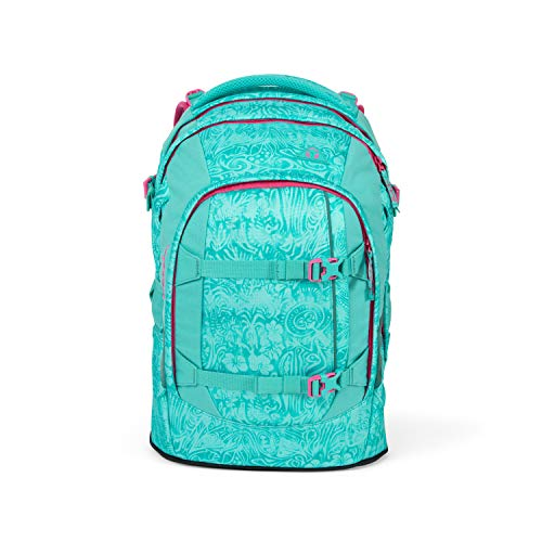 Satch Pack Aloha Mint, ergonomischer Schulrucksack, 30 Liter, Organisationstalent, Türkis, SAT-SIN-001-9X9, Aloha Mint - 2019, Einheitsgröße