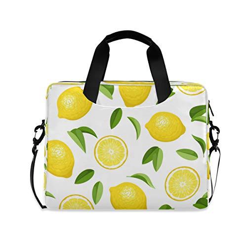HMZXZ Laptop Bag Tropical Summer Fruit Lemons Laptop Sleeves Case for 13 14 15.6 Inch Computer Tablet Briefcases Carrying Case Shoulder Bag for School Work
