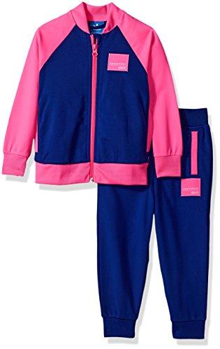 adidas Originals - Conjunto de sudadera y pantalón para bebés - azul - 6 meses