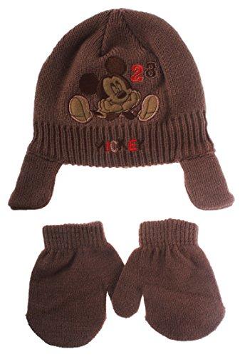 Bonnet péruvien et moufles bébé garçon Mickey Disney baby Marron T46 (6/9mois)