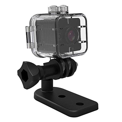 SODIAL SQ12 Mini Camara Resistente al Agua HD 1080P DVR Lente Camaras de Video Deportivas Gran Angular Videocamara Mini PK SQ8 SQ9 Q11