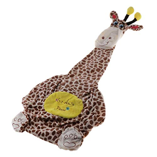 Baoblaze Cartoon Animal Kids Sitz Sofabezug - Kaffee Giraffe (Sitz)