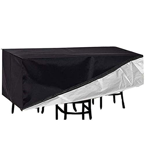 XINGG 70x70x140cm Patio Furniture Cover Rectangle, Garden Furniture Covers Waterproof, Protector Sofa Outdoor Patio Protection Tarpaulin Dust-proof Easy to Fold Drawstring Design,Black