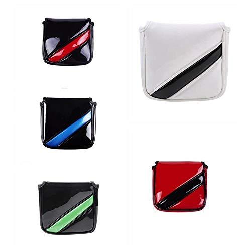 パターカバー ヘッドカバー マレット用 オデッセイ2ボール・テーラーメイド スパイダーパターに対応 磁石タイプ開閉 (赤)