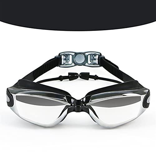 SRXSMGS Schwimmbrille Schwimmbrille Erwachsene Männer und Frauen Schwimmen Brille High-Definition-Objektiv Wasserdicht und Anti-Nebel-Schutzbrillen (Color : Schwarz)