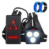 Anbte Running Light Ricaricabile USB Luce Corsa 3 Modi 500 LM Impermeabile Sport all' Aria...